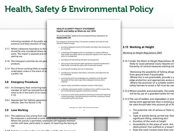 Ramscapes Health And Safety Policy | Commercial Landscaping